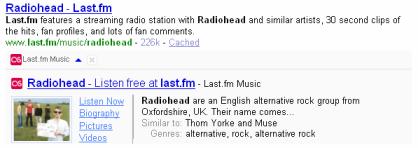 Résultat personnalisé pour LastFM